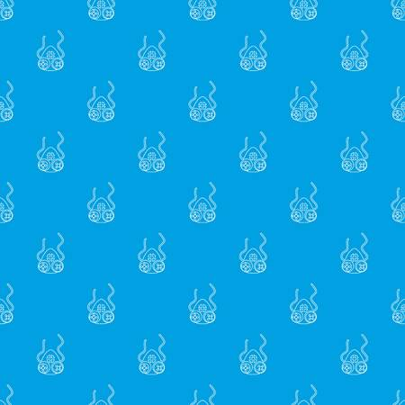Mask protection pattern vector seamless blue repeat for any use