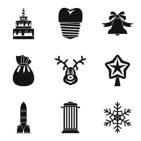 Celebration of winter icons set. Simple set of 9 celebration of winter vector icons for web isolated on white background