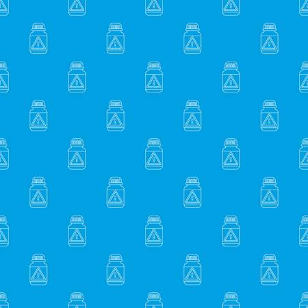 Poison insects pattern vector seamless blue repeat for any use