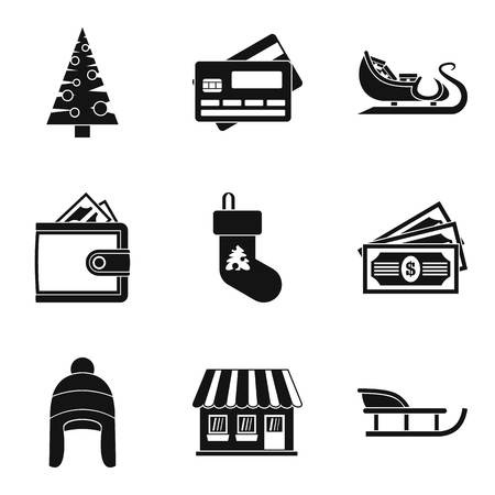 Arctic icons set. Simple set of 9 arctic vector icons for web isolated on white background