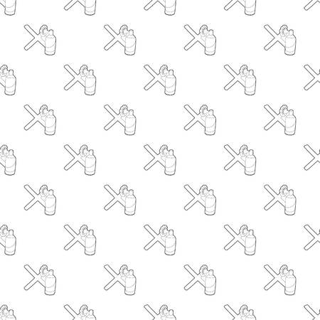 Cross painted with a balloon pattern vector seamless repeating for any web design.
