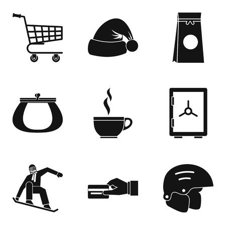 Frigid icons set. Simple set of 9 frigid vector icons for web isolated on white background. 일러스트