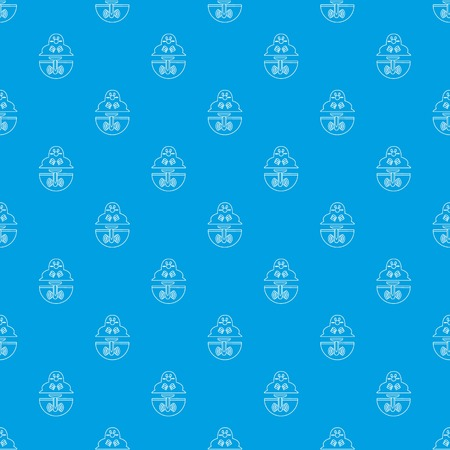 Mole pattern vector seamless blue repeat for any use