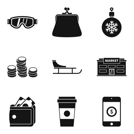 Cool down icons set. Simple set of 9 cool down vector icons for web isolated on white background Illustration