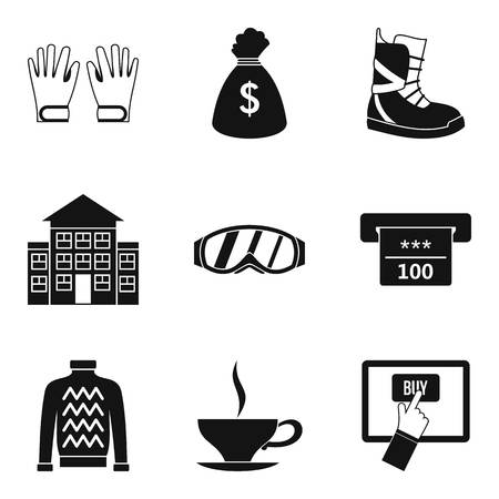 Being cold icons set. Simple set of 9 being cold vector icons for web isolated on white background.