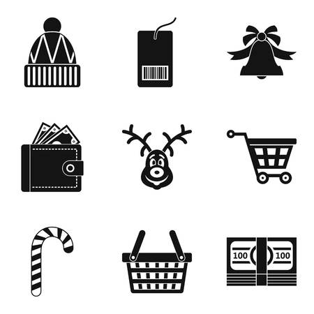 Were cold icons set. Simple set of 9 were cold vector icons for web isolated on white background.