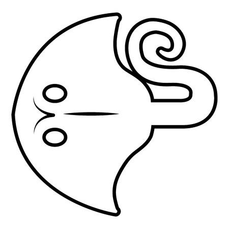 Stingray icon. Outline illustration of stingray vector icon for web. Illusztráció