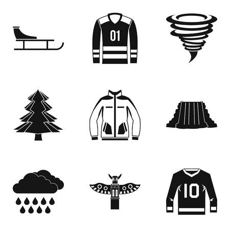 Sport adventure icons set. Simple set of 9 sport adventure vector icons for web isolated on white background.