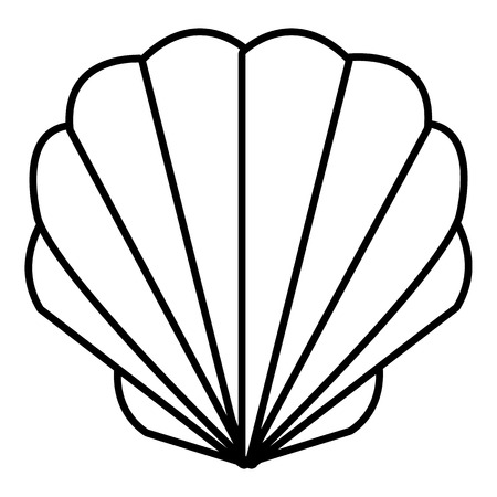 Outline illustration of shell web icon.