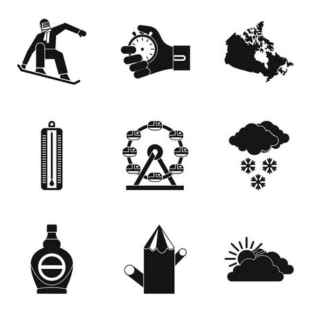 Sport journey icons set. Simple set of 9 sport journey vector icons for web isolated on white background.