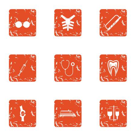 Flesh icons set. Grunge set of 9 flesh vector icons for web isolated on white background.