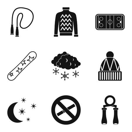 Frisky icons set. Simple set of 9 frisky vector icons for web isolated on white background Ilustração