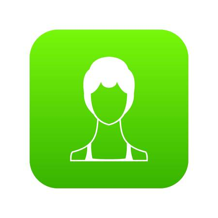 Woman icon digital green for any design isolated on white vector illustration