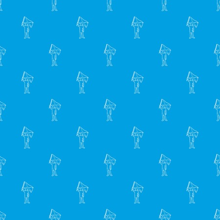 Man protest pattern vector seamless blue repeat for any use