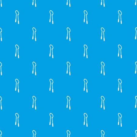 Clamping mites pattern vector seamless blue repeat for any use.