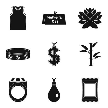 Simple set of 9 various icons