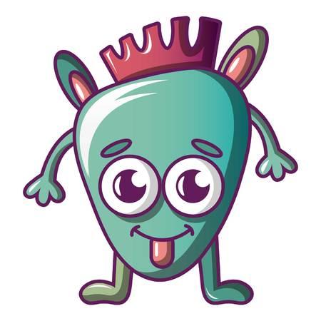 Funny monster icon. Cartoon illustration of funny monster vector icon for web Illustration