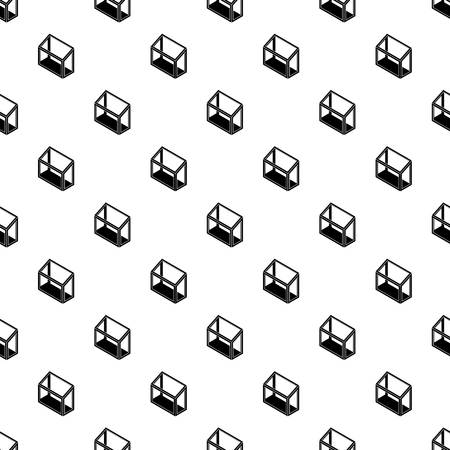 Balcony window frame pattern vector seamless repeating for any web design Illustration