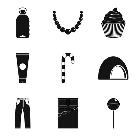Treats for women icons set. Simple set of 9 treats for women vector icons for web isolated on white background 矢量图像