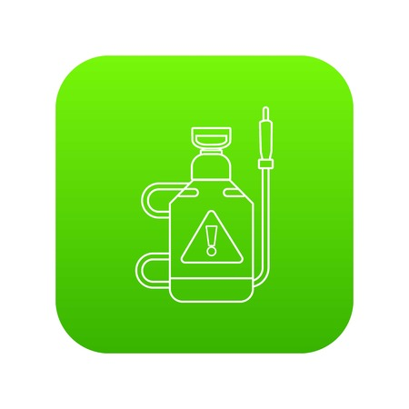 Poison pest control icon green vector isolated on white background