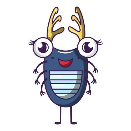 Bug icon. Cartoon illustration of bug vector icon for web