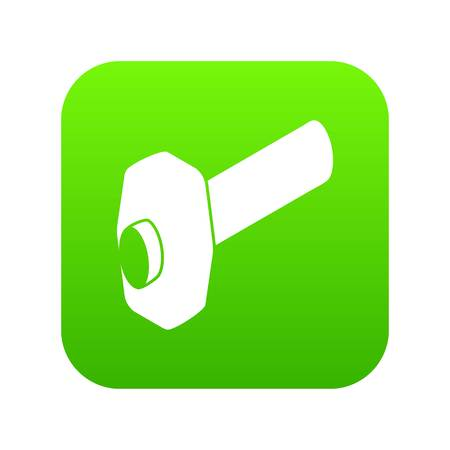 Sledgehammer icon on green square.