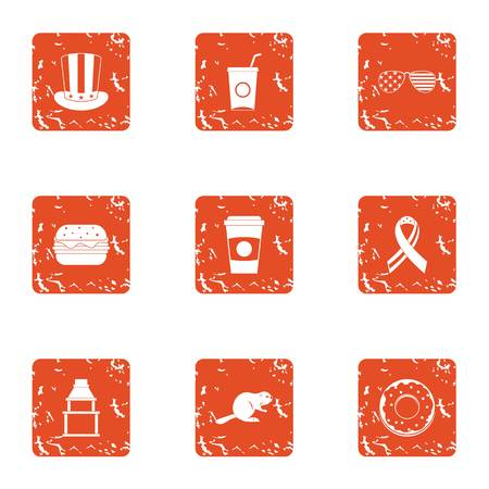 Sociable icons set. Grunge set of 9 sociable vector icons for web isolated on white background