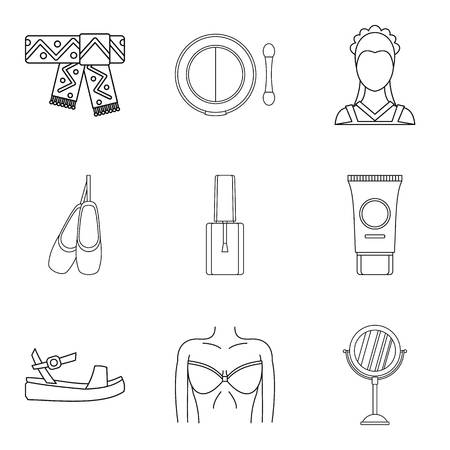 Collaborator icons set. Outline set of 9 collaborator vector icons for web isolated on white background