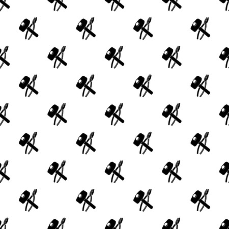 Hammer clamping mites pattern vector seamless repeating for any web design Иллюстрация