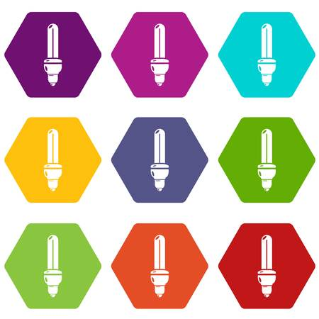 Light bulb energy icon set