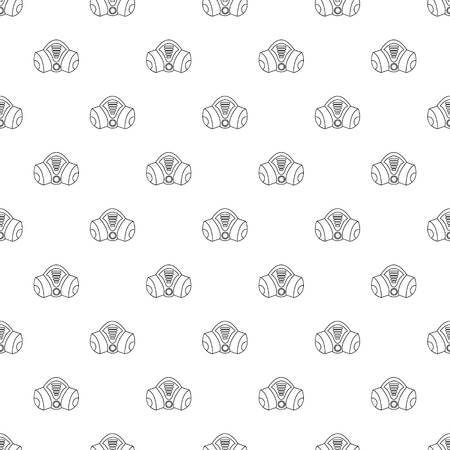 Gas mask vector seamless pattern.