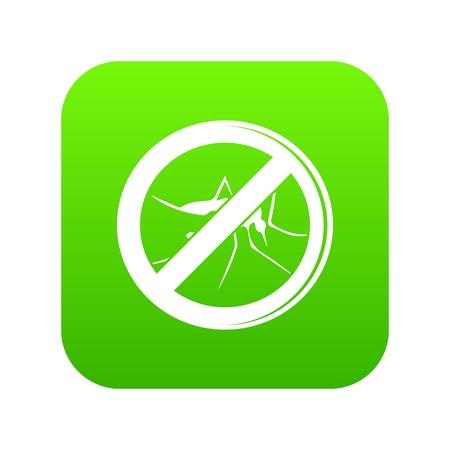 No mosquito icon on green square.