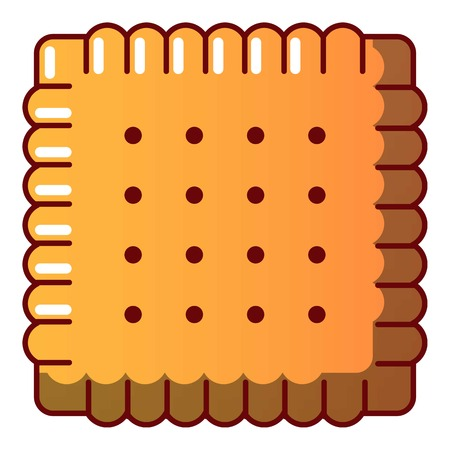 Tasty biscuit icon cartoon illustration.