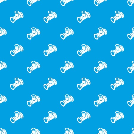 Tee pipe pattern vector seamless blue repeat for any use