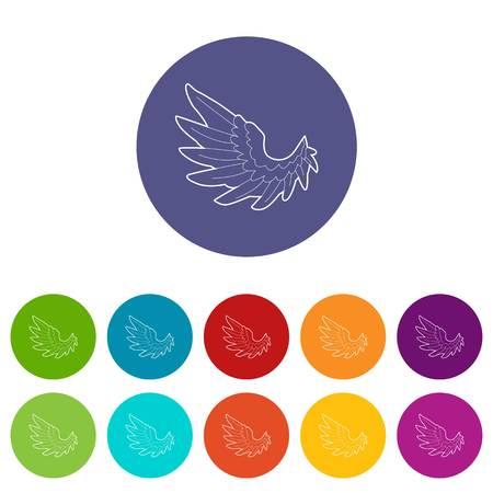 Angel wing icon. Outline illustration of angel wing vector icon for web Ilustração