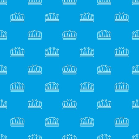 Snow crown pattern vector seamless blue repeat for any use Standard-Bild - 100430598