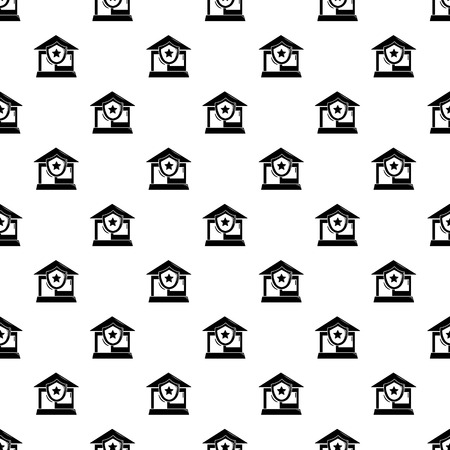 House protection pattern vector seamless repeating for any web design