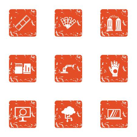 Wireless protection icons set vector illustration