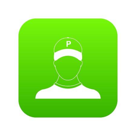 Parking attendant icon vector illustration Illustration