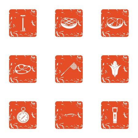 Alimentation icons set. Grunge set of 9 alimentation vector icons for web isolated on white background Standard-Bild - 100449791