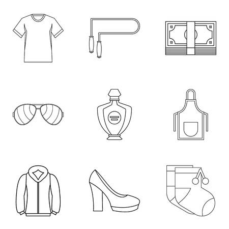 Trading firm icons set. Outline set of 9 trading firm vector icons for web isolated on white background