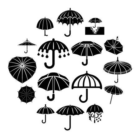Umbrella icons set. Simple illustration of umbrella vector icons for web