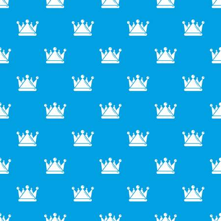 Kievan rus crown pattern vector seamless blue repeat for any use