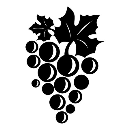 Table grape icon. Simple illustration of table grape vector icon for web Illustration