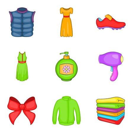 Consumer boom icons set. Cartoon set of consumer boom vector icons for web isolated on white background