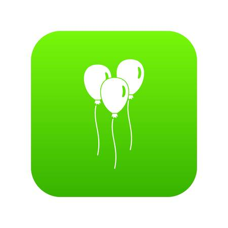 Balloons icon digital green for any design isolated on white vector illustration