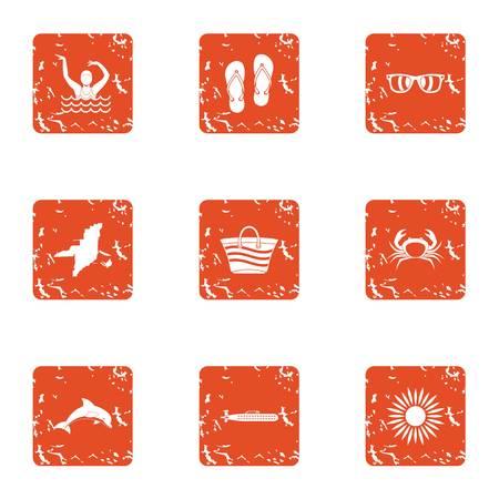 Vagabond icons set. Grunge set of 9 vagabond vector icons for web isolated on white background