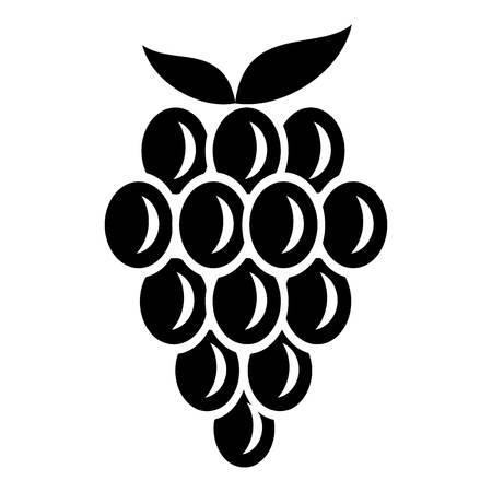 Grape dessert icon. Simple illustration of grape dessert vector icon for web Illustration