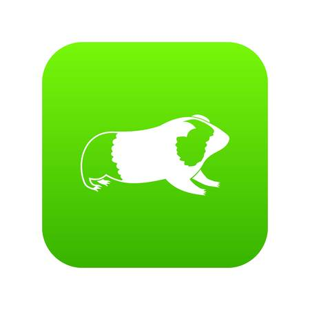 Hamster icon digital green for any design isolated on white vector illustration