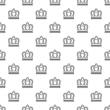 Britain crown pattern vector seamless repeating for any web design Ilustrace
